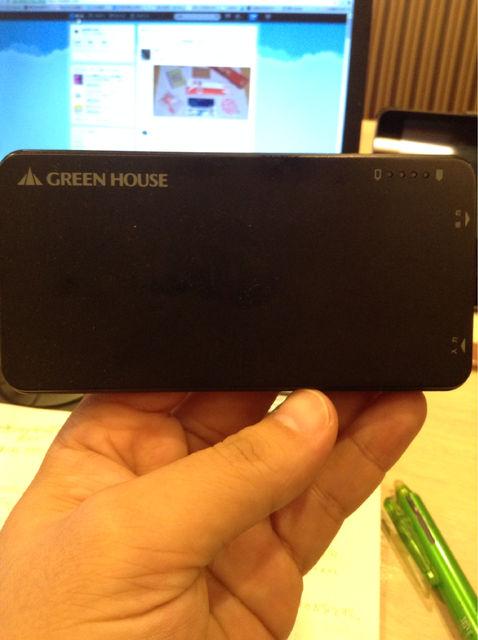 【モバイルガジェットレビュー】モバイルバッテリーgreenhouseGH-BTI4200AK 値段の割に容量大きい。けど小さい