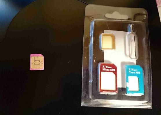 SIMアダプターとマイクロSIM