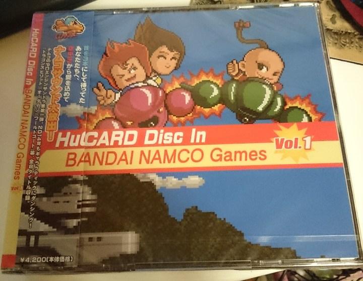 【サウンドトラック】HuCARD Disc In BANDAI NAMCO Games Inc.Vol.1 が到着。ケースとジャケットがなんとなく懐かしい